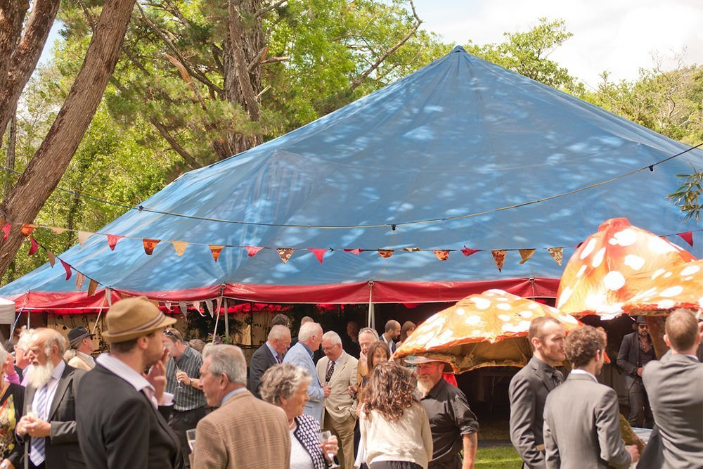 exterior photo of a big top marquee for outdoor music festivals and events